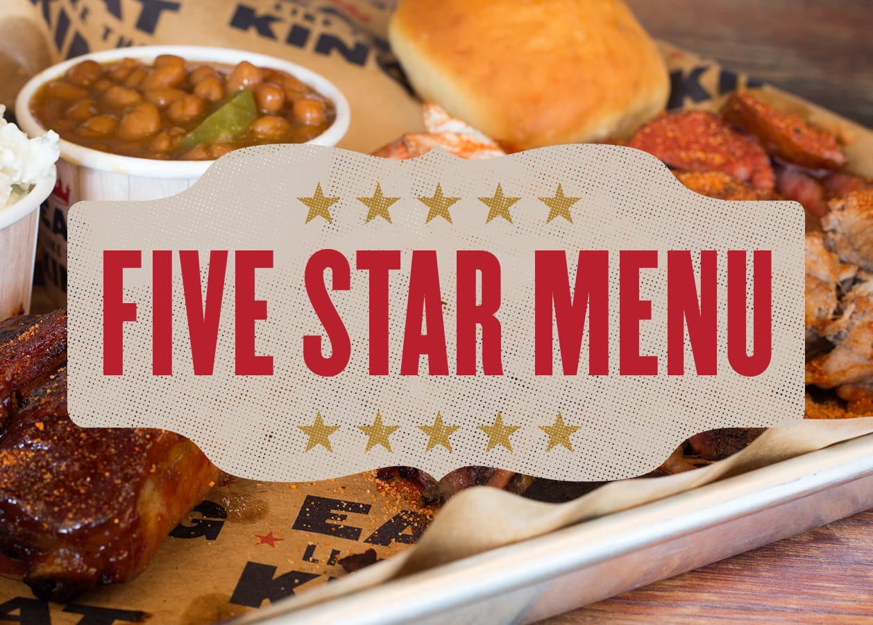 Five star menu